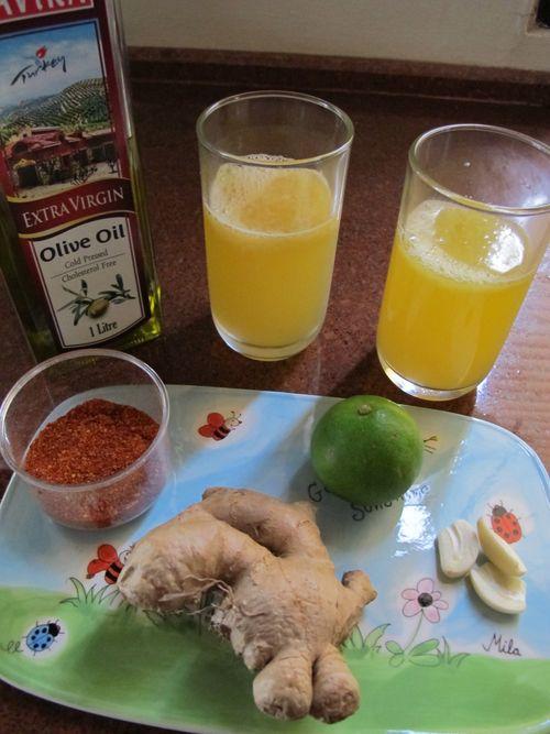 liver cleanse citrus olive oil drink