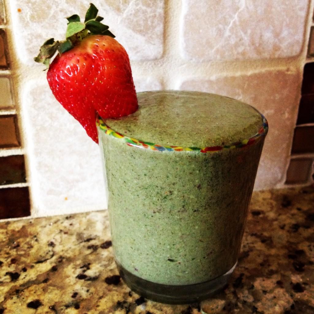 rejuvenate smoothie strawberry plus berries herbs drink