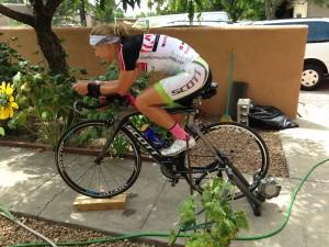 irena ossola stationary bicycle training