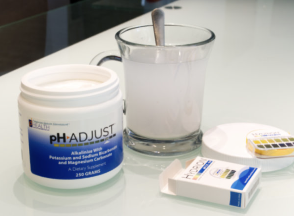 ph adjust mixes in water or juice